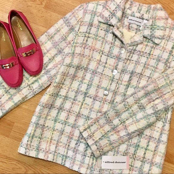 Alfred Dunner Jackets & Blazers - ALFRED DUNNER NWT Pastel Plaid Jacket