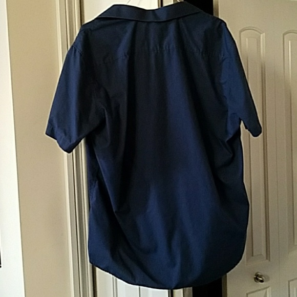 omega men 39 s s s dress shirt navy xxl 18 18 5 neck from