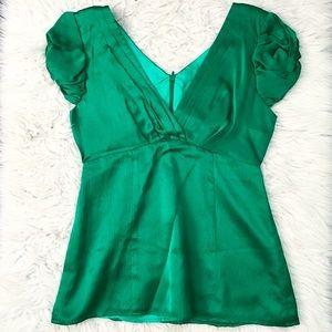 Green Silk Nanette Lepore Blouse