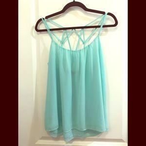 Aqua/mint blouse
