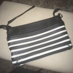 Merona  nice black and white straps wrestles