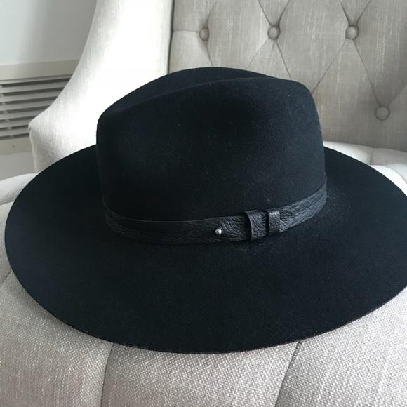 353eefaba8b3 Rag & Bone Wide Brim Fedora Black Felt Hat. M_59ebc41f2fd0b75c62056af8