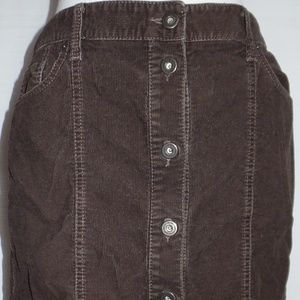 Ann Taylor Loft Brown Corduroy Skirt 6