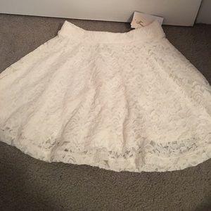 forever 21 lace skater skirt