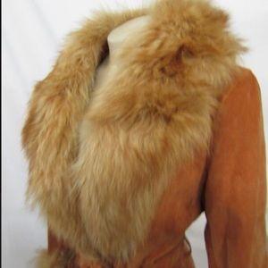 Vintage Lantry Suede Fox Fur Coat