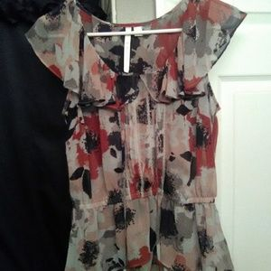 Lauren Conrad sheer blouse