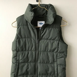 Old Navy Army Green Puffer Vest XS