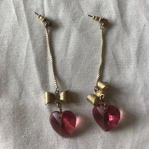 Vintage Betsey Johnson dangle earrings