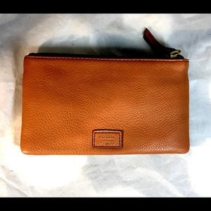 Fossil brown leather Karli Clutch Wallet NWT