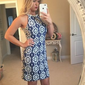💙💍 NINE WEST - Blue and white dress 💙💍