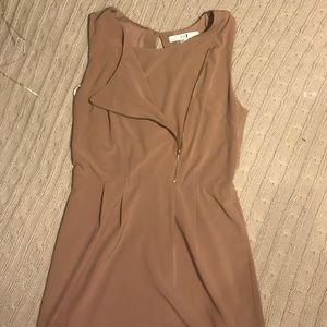 Taupe colored dress