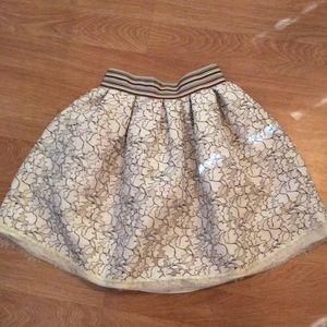 HeartSoul lace over satin skirt Super cute