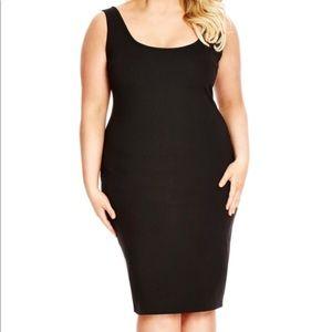 Plus Size City Chic bodycon black sleeveless dress