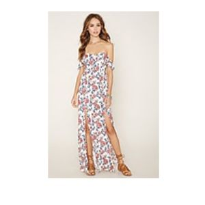 Floral maxi dress, L