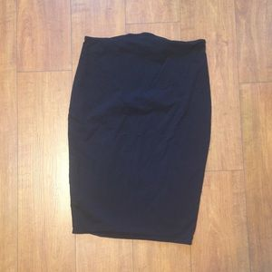 Black maternity pencil skirt