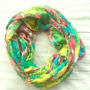 Lilly Pulitzer flower infinity scarf