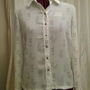 H&M Rabbit blouse