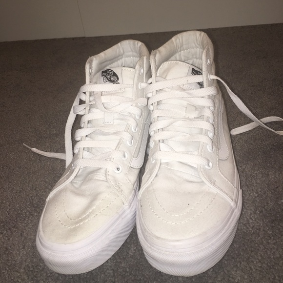 43b2fe1d3e vans high tops all white Sale