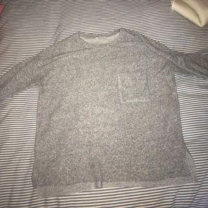 ZARA heathered gray short sleeve t shirt