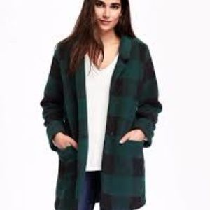 Brushed Stand-Collar Coat for Women
