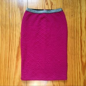 Plum Pencil Skirt Anthropologie NWOT