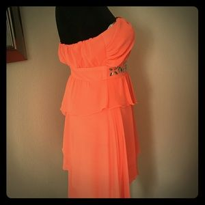 Coral dress prom homecoming social occasion