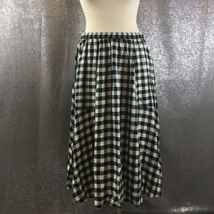 Madewell plaid midi skirt with pockets
