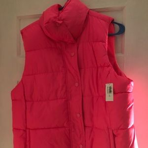Hot Pink Puffy Vest NWT