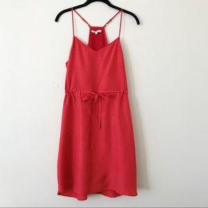 Madewell Red Tie Waist Dress