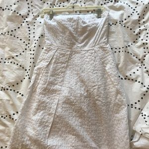EUC white J. Crew Strapless dress