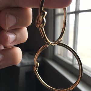 MK gold plated hoops
