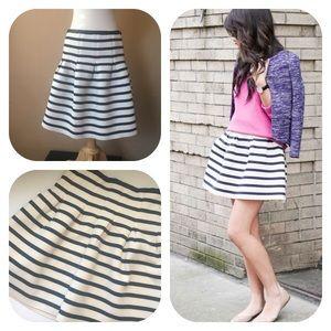 GAP Neoprene striped pleated mini skirt