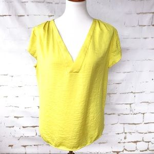 H&M Bright Yellow Blouse Size 12
