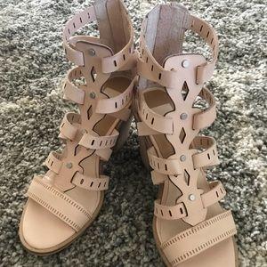 Dolce Vita Neutral Block Heel Sandal