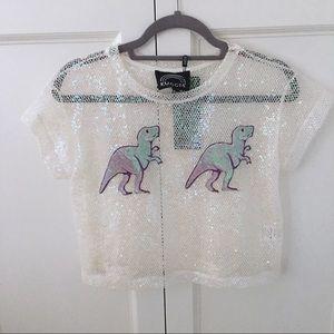 Kuccia iridescent Dinosaur Shirt