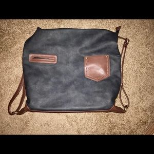 Handbags - lightly used blue and brown both a tote&backpack