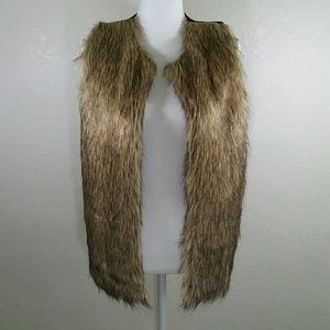 Poof Faux Fur Knitted Vest