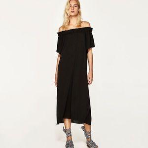 NWT Zara exposed shoulder long dress