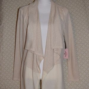Juicy Couture Two Tone Gold Metallic Knit Cardigan