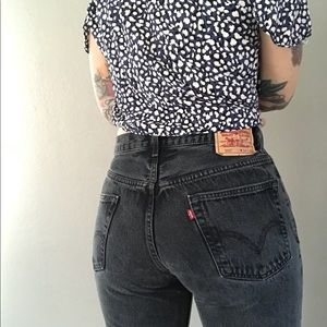 Levi's 505 Vtg Mom Jeans in Black