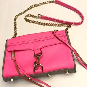 Rebecca Minkoff mini M.A.C. Crossbody hot pink bag