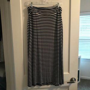 J. Crew Long Knit Striped Maxi Skirt