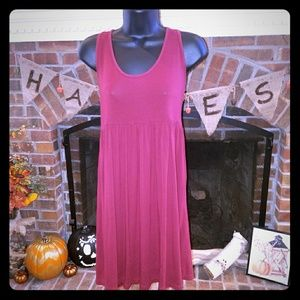 Wine colored dress H&M dress