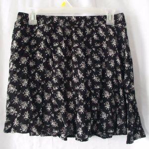 Pac Sun La Hearts B&W Floral Skater Skirt