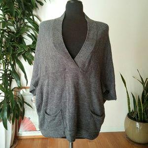 Zara knit loose poncho sweater