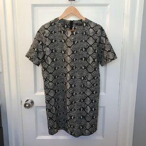 ZARA Snake Print Shift Dress