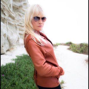 Brown Deerskin Leather Jacket in Sm/Med