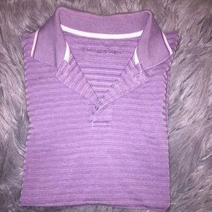 Ermenegildo Zegna Polo Purple Stripe