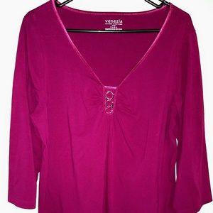 Venezia size 14/16 pink blouse
