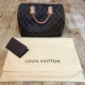 AUTHENTIC Louis Vuitton Speedy 30 Monogram